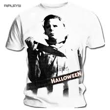 T Shirt Halloween Official T Shirt Halloween Classic Movie Michael Myers White All Sizes