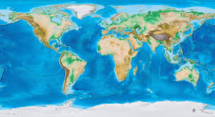 Earth Maps Earth U0027s Topography And Bathymetry No Labels