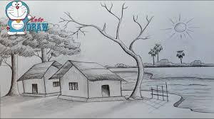 how to draw scenery of light and shadow by pencil sketch youtube