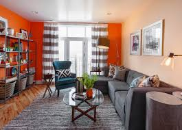 curtains orange living room curtains charismatic white and black
