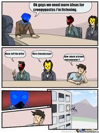 Creepypasta Memes - back at the creepypasta headquaters by zalgo meme center