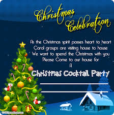 cocktail party invitation christmas invitation template and wording ideas u2013 christmas