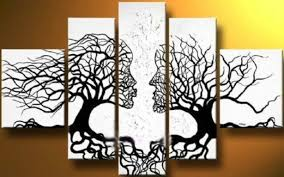 canvas tree art on wall with long canvas ideas furniture