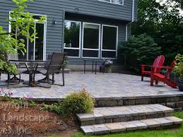 Raised Paver Patio Lewis Landscape Services Paver Patios Portland Oregon