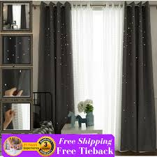 Victoria Classics Curtains Grommet by Grey Gray Twinkle Stars Kids Bedroom Grommet Window Curtain Fabric