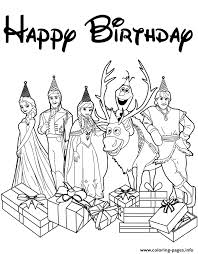 disneys frozen cast happy birthday wishes colouring coloring