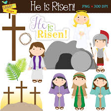 religious easter clipart cute easter story digital clipart