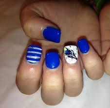 my nails peacock stripes blue nail designs acrylic fake