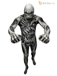 Zombie Halloween Costumes Boys Morphsuit Monster Kids Boys Robot Zombie Halloween Fancy Dress
