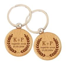 personalized wooden keychains 57 engraved key chain custom engraved golf divot tool key chain