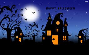 vampire bats flying around lights house vector art