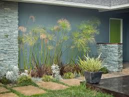 colorful mid century modern residence midcentury landscape