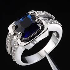 blue man rings images Jenny g jewelry men big blue sapphire solitaire gem stone 10kt jpg