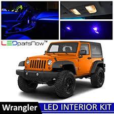 2007 jeep wrangler unlimited accessories amazon com ledpartsnow 2007 2015 jeep wrangler jk led interior
