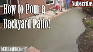 how to pour a backyard concrete patio u0026 fix old lose brick borders