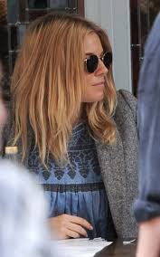 whatbhair texture does sienna miller have sienna miller hair light orange hair ombre h a i r