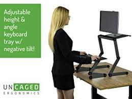 Convert Normal Desk To Standing Desk Uncaged Ergonomics Workez Standing Desk Conversion Kit For Laptops