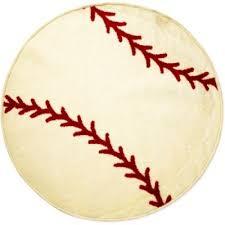 baseball bathroom rug kubelick