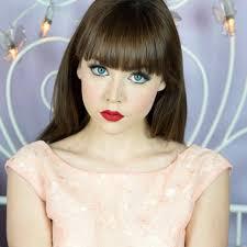 model demonstrates how to get the u0027porcelain doll u0027 make up look