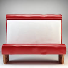 retro diner booth bench sofa by luckyfox 3docean