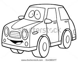 vector illustration cartoon car pickup coloring stock vector