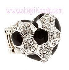 ball rings images Soccer ball heart bling sports ring jpg