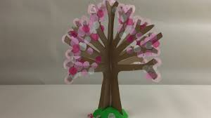 how to make a blossom tree simple craft activity for kids youtube