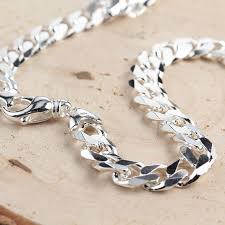 chunky link necklace images Men 39 s solid sterling silver 11 3mm wide curb chain jpg
