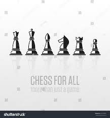 vector chess pieces set black white stock vector 365178992