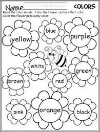 free flower color words worksheet great for the spring spring