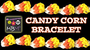 halloween charm bracelets new rainbow loom band candy corn bracelet for halloween youtube