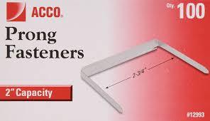 Capacity Amazon Com Acco 2 Inch Capacity Prong Fastener Bases 2 75 Inch