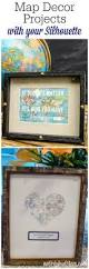 travel theme decor map themed decor with your silhouette wedding gift and silhouettes