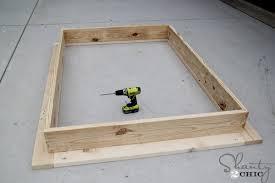 Make Your Own Platform Bed Frame How To Make A Platform Bed Frame Easy Diy Platform Bed Shanty 2