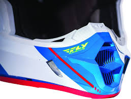 blue motocross helmet fly kinetic pro canard replica helmet adventure moto sports