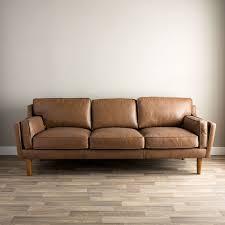 Oxford Leather Sofa Beatnik Oxford Leather Sofa Overstock Shopping The