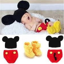 Mickey Mouse Toddler Costume Aliexpress Com Buy Mickey Designs Crochet Baby Hats Photo Props