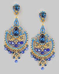 clip on chandelier earrings lyst jose barrera draped chandelier clip