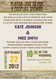 gift card wedding shower invitation wording rustic poster style couples shower bridal shower invitation