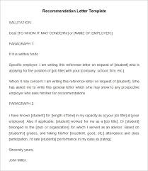 Reference Examples For Resume by 20 Employee Recommendation Letter Templates Hr Templates Free