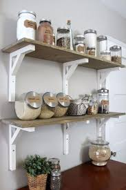 open shelving kitchen ideas vintage open shelving rustic wooden open shelves ingredient glass