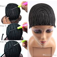 sewing marley hair braided cornrows wig cap for making wigs easier sew ins cheap