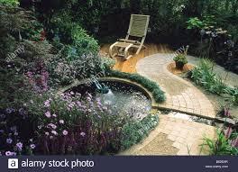 feng shui garden design pamela circular pool with fountain