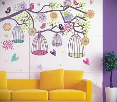young girls wall stickers and full sized wall murals ideas for kid girls wall stickers with purplr and yellow color