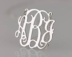 monogram jewlery st louis locally handmade jewelry