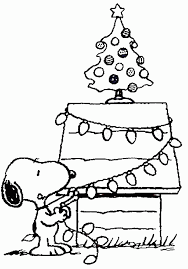 snoopy christmas coloring learntoride