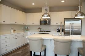 Stainless Steel Pendant Light Kitchen Modern Kitchen White Marble Counter Top And Stainless Steel