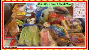aldi bi lo grocery hauls w meal plan week w my parents here