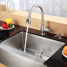 stainless steel kitchen sink combination kraususa com discontinued 33 inch farmhouse single bowl stainless steel kitchen sink with kitchen faucet and soap