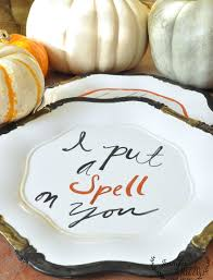 Vintage Halloween Plates by Hand Lettered Halloween Plates For Fun Decor Jennifer Rizzo